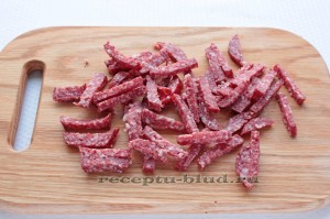 Колбаса брусочками