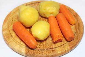 Отварите овощи