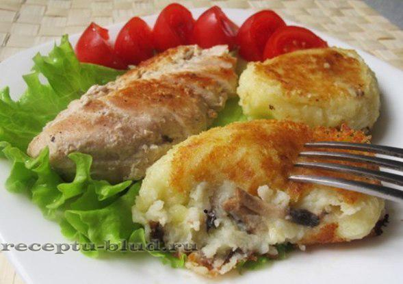 Зразы с грибами кулинарные рецепты