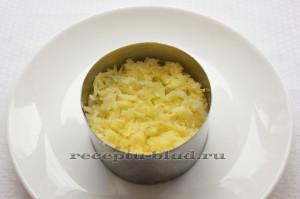 Тертый картофель - слой в салате