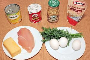 Ингредиенты на салат