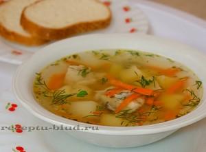 Суп с рыбными консервами