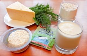 Ингредиенты для лепешки с сыром