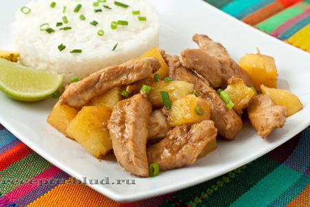 филе курицы с ананасами