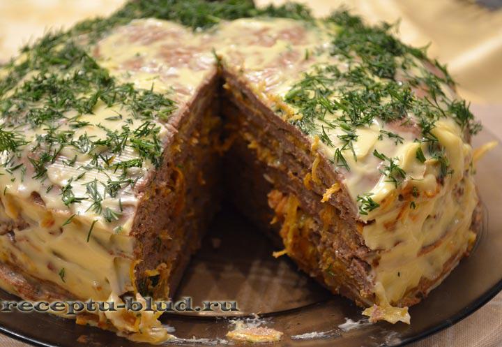 Очень вкусный печеночный торт рецепт с фото