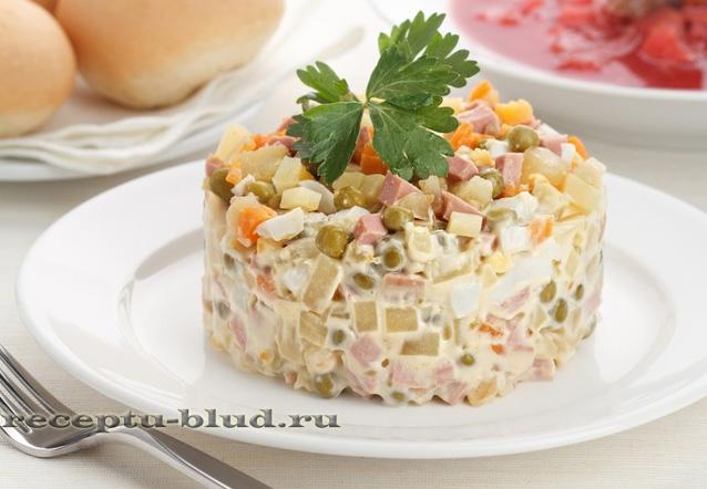 Оливье салат рецепт на английском языке
