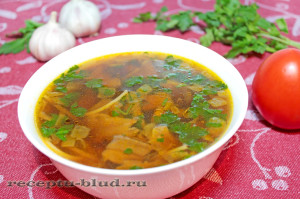 Суп из белых грибов сухих