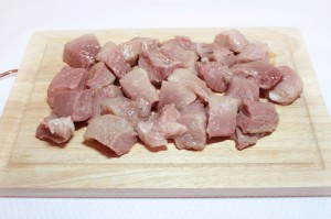 нарежьте мясо