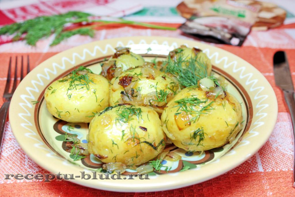 Вареный молодой картофель