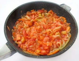 Обжарьте овощи