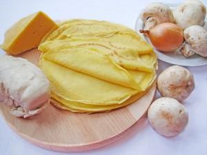 Ингредиенты для мешочков из блинов