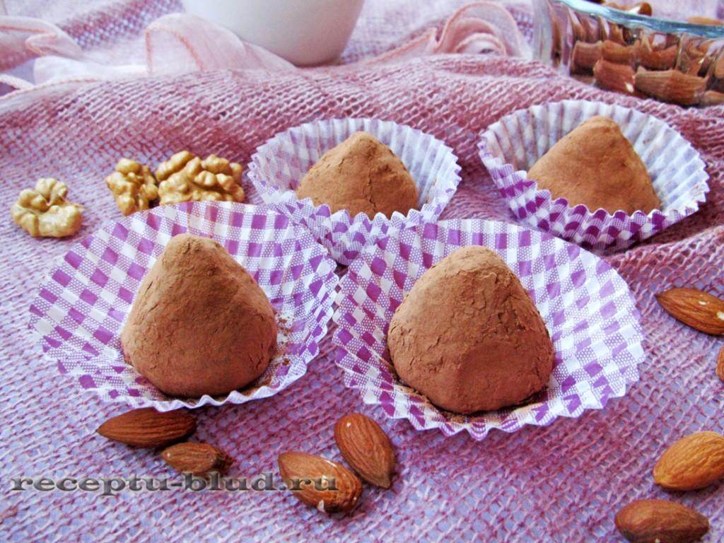 Конфеты трюфели с орехами