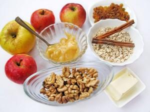 Ингредиенты для яблочного десерта