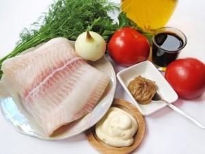 Ингредиенты для рыбных рулетиков