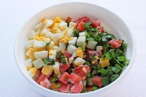 Все продукты на салат с семгой