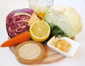 Ингредиенты для салата из капусты