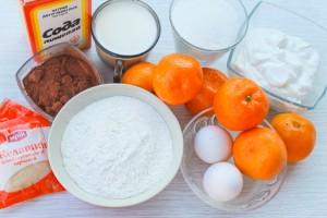 Ингредиенты для торта с мандаринами