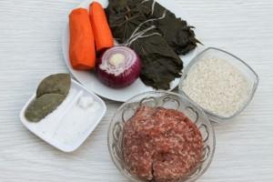 Ингредиенты для приготовления долмы