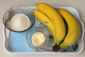 Необходимые ингредиенты для жареных бананов