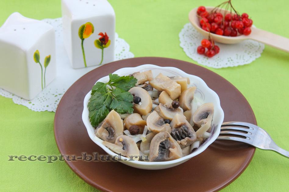 Маринованные грибы в сливках