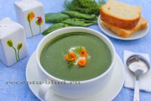 Быстрый суп пюре из шпината