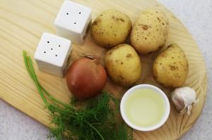 """Ингредиенты для блюда """"жареная картошка с луком"""""""