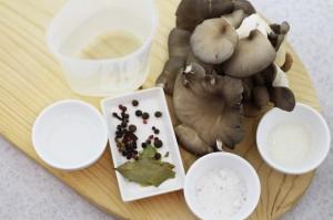 Ингредиенты для маринования вешенок