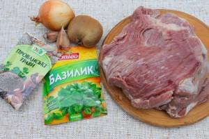 Ингредиенты ддя жаркого из говядины
