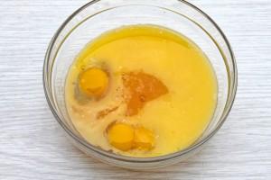 Яйца с мандариновым соком
