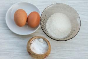 Ингредиенты для приготовления безе