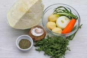 Ингредиенты для щей из капусты