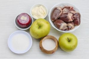 Ингредиенты для салата сардечного