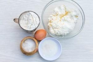 ингредиенты для ленивых вареников с творогом