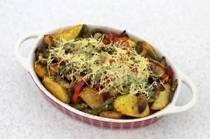 Запеченный картофель с грибами в духовке