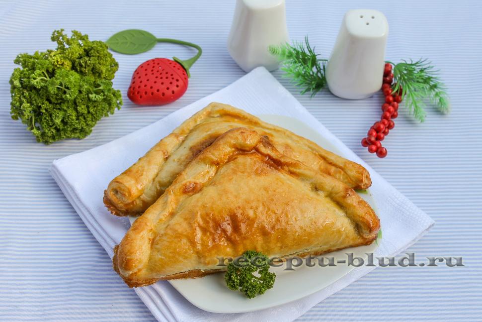 Самса с куриной печенью