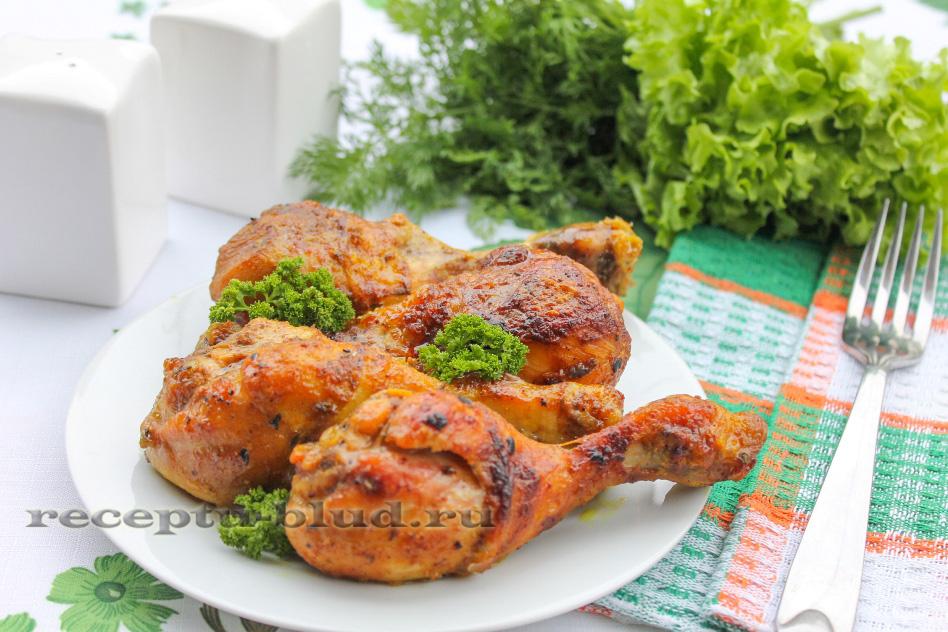 Куриные голени запеченные в духовке