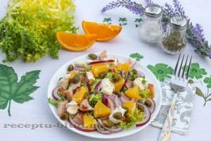 Новый салат с апельсинами и курицей