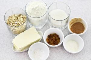 Продукты для приготовления овсяного печенья