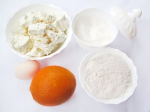 Ингредиенты для апельсиновых сырников