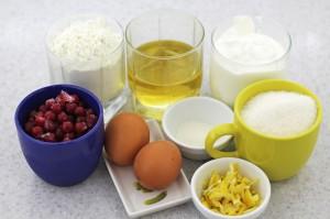 Продукты для приготовления сметанного пирога