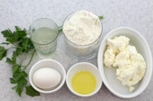 Ингредиенты для приготовления чебуреков
