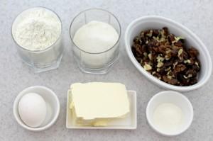 Продукты для приготовления орехового печенья