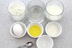 Необходимые ингредиенты для приготовления блинов на кефире