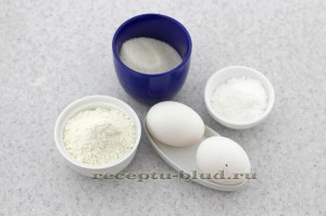 Ингредиенты для печенья савоярди