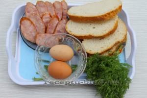 необходимые ингредиенты для яичницы в духовке