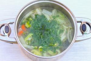 Суп из овощей со свининой