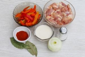 продукты для приготовления паприкаша из курицы