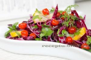 полезный салат из капусты с калиной