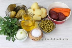 Ингредиенты для салата Винегрет