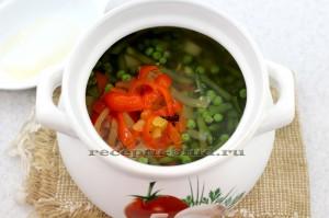 Маринованный перец в супе